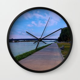Esplanade on the banks of the river | waterscape photography Wall Clock