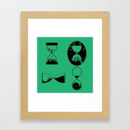 hourglasses Framed Art Print