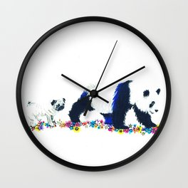 Pug and Panda Wall Clock