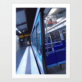 Paris urban metro Art Print
