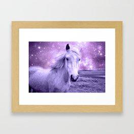 Lavender Horse Celestial Dreams Framed Art Print