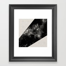 Expanding Universe - Abstract, black and white space themed design Framed Art Print