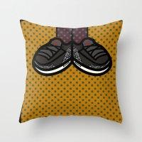 air jordan Throw Pillows featuring AIR JORDAN 3 by originalitypieces
