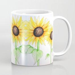 Sunflower Watercolor & ink Coffee Mug