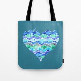 A Sea of Love (blue) Tote Bag