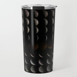 Super Moon, Blood Moon, Total Lunar Eclipse timelapse showing all phases Travel Mug