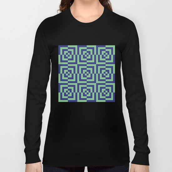 Blue and green - Optical Game 23 Long Sleeve T-shirt