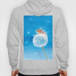 Harvest mouse on the Dandelion Hoody