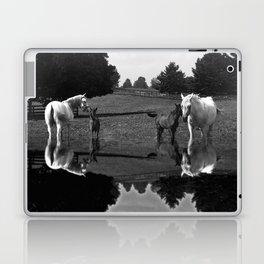 Black & White Arabian Horses Laptop & iPad Skin