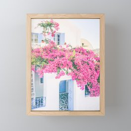 486. Flowers House, Oia, Santorini, Greece Framed Mini Art Print