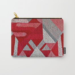 Pink, Red and Grey Carry-All Pouch