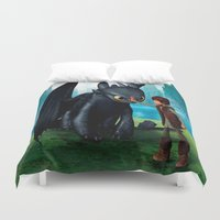 dragon Duvet Covers featuring Dragon by nurfiestore2u