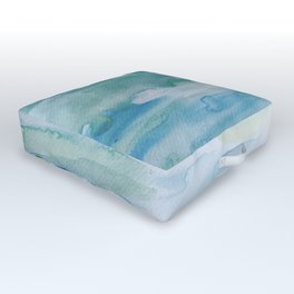 Miami Beach Watercolor #1 Outdoor Floor Cushion