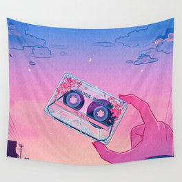 Vaporwave Playlist Casette - My Best Mixtape Wall Tapestry