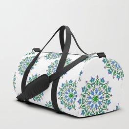 Mandala - cool colours Duffle Bag