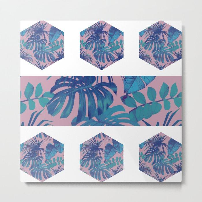 Botanical Hexagon Metal Print