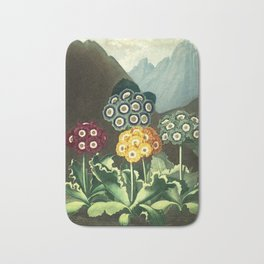 Group of Auriculas :  Temple of Flora Bath Mat