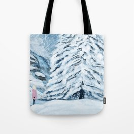 Secret snow garden Tote Bag