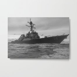 USS John S. McCain On Patrol - 2017 Metal Print