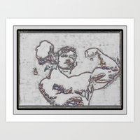 muscle Art Prints featuring Muscle by Saul Vargas