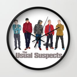 The Usual Suspect casual fashion style Wall Clock