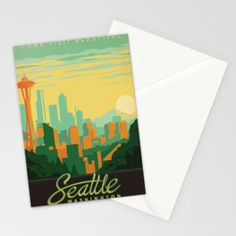 Vintage poster - Seattle Stationery Cards