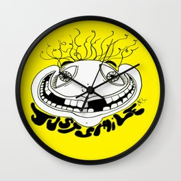 Just Smile Wall Clock