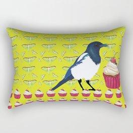 Magpies and Cupcakes Rectangular Pillow