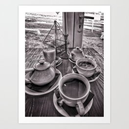 Brunch in grey Art Print