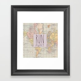 Run Away Framed Art Print