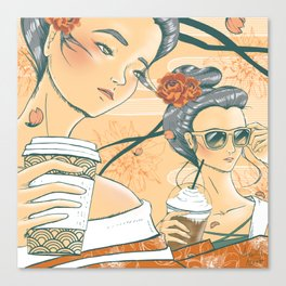 Those Who Coffee Canvas Print