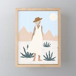 white sands Framed Mini Art Print