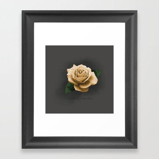 nature is a machine Framed Art Print