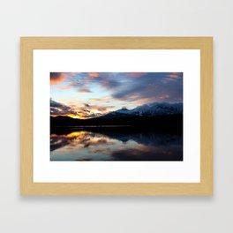 Dreamy Jasper Sunset Framed Art Print