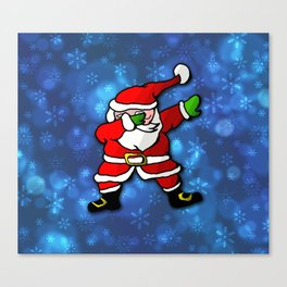 Christmas Santa Dance Dab Canvas Print