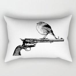 Colt Peacemaker and bird - Weapon - Gun - Ironic - Peace - Pop Culture Rectangular Pillow