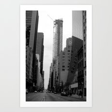 manhattan street Art Print