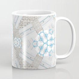Country Style Textured Burlap Design Coffee Mug