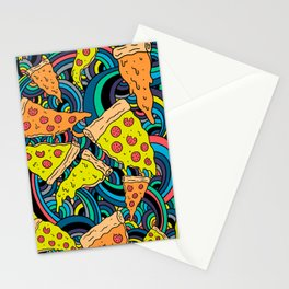 Pizza Meditation Stationery Cards