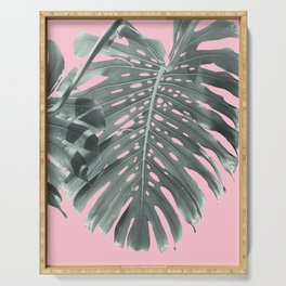 Monstera Finesse #1 #tropical #decor #art #society6 Serving Tray