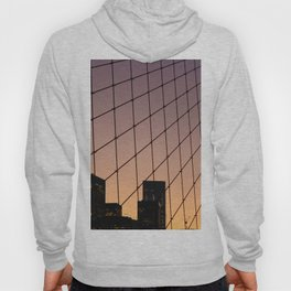 New York City Sunset and Bridge (Color) Hoody