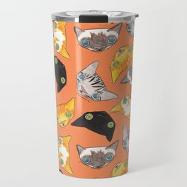 """Oro?"" Cats-Salmon Color Travel Mug"