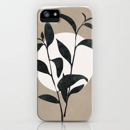 Abstract Minimal Plant iPhone Case