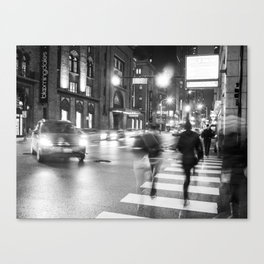 Night Blur Canvas Print