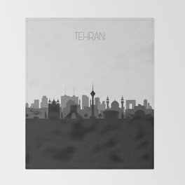 City Skylines: Tehran Throw Blanket