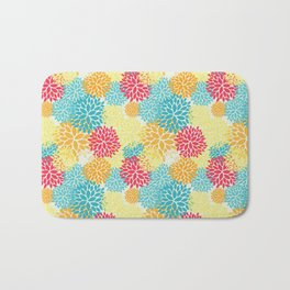 Floral seamless pattern, looks like fantasy flowers Bath Mat