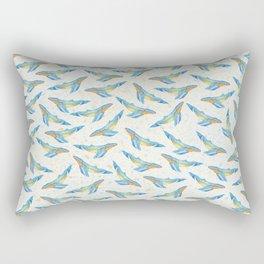 100 whales Rectangular Pillow