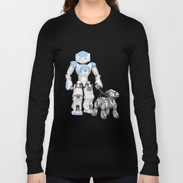The Dog Walker. (Blue) Long Sleeve T-shirt