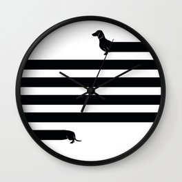 (Very) Long Dog Wall Clock