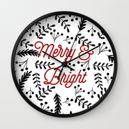 Merry & Bright Wall Clock